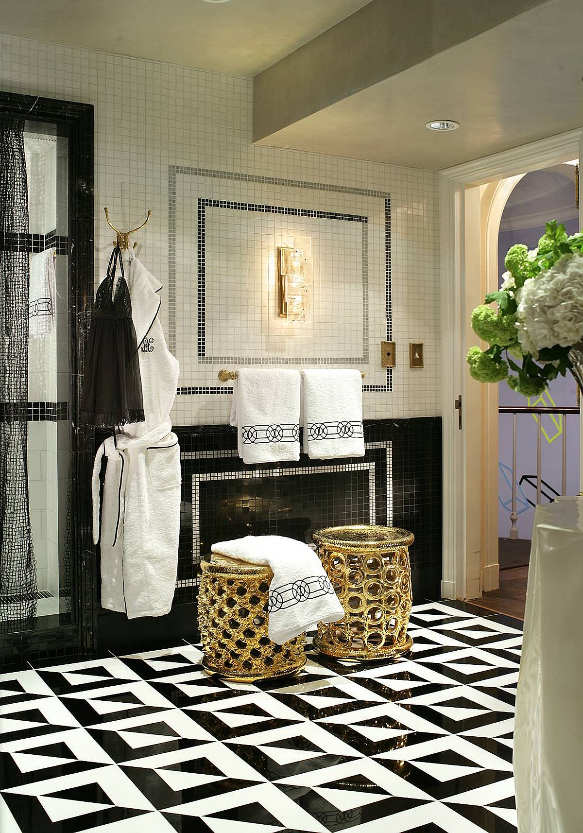 Replace old bathroom towels, toiletries and stools with more upscale stuff during staycation!
