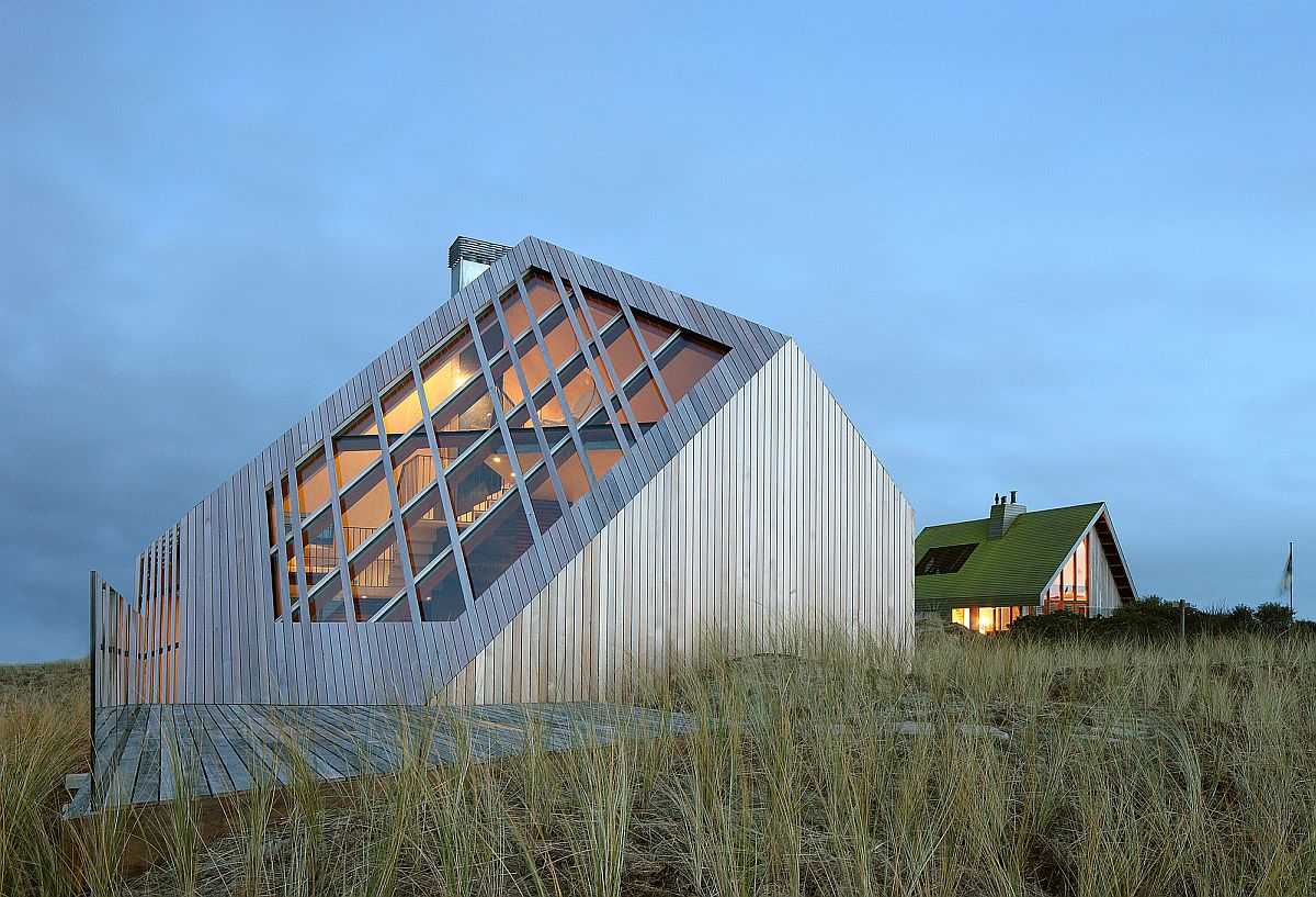 Sculptural Dune House designed by Marc Koehler Architects in Netherlands with a view of North Sea