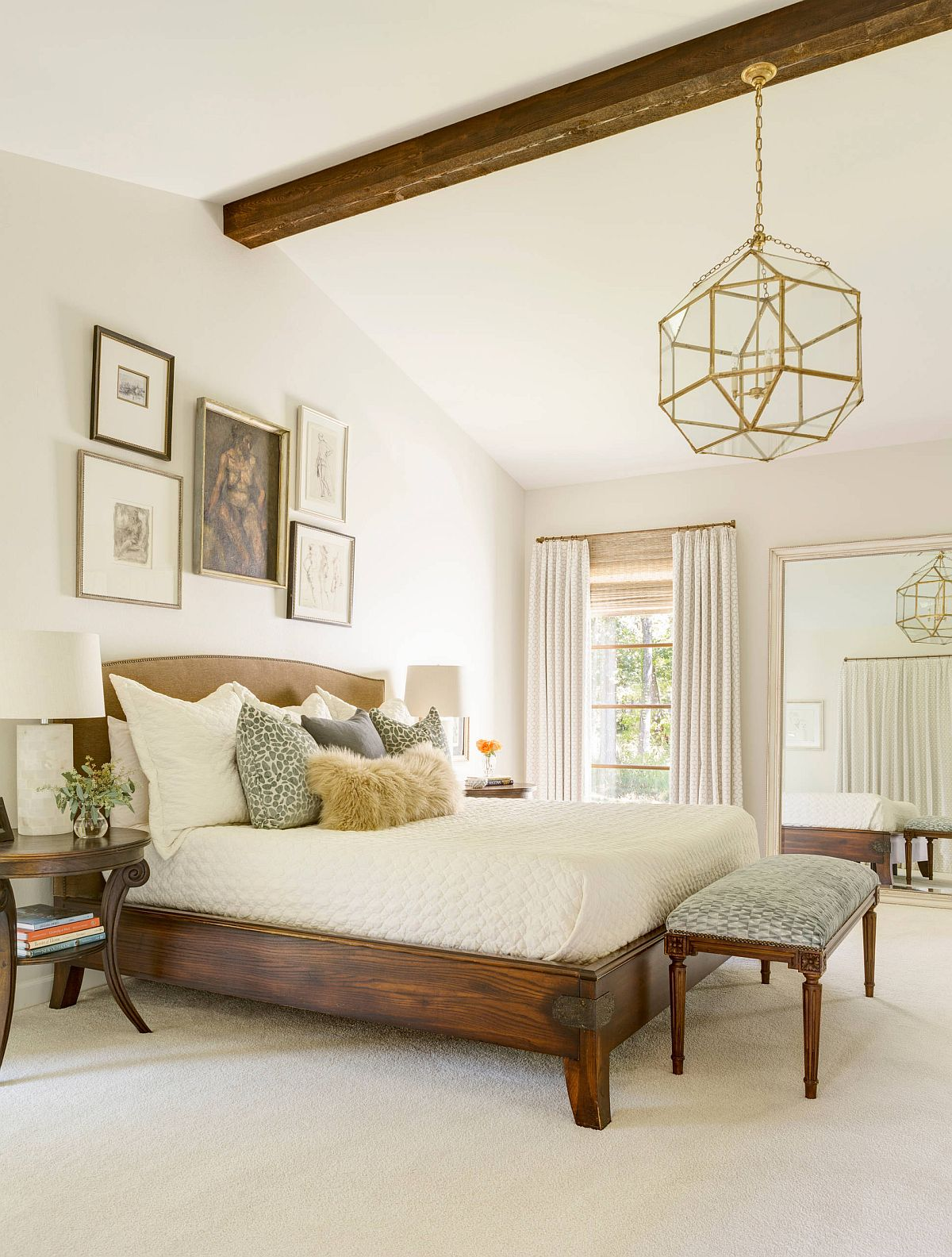 Small-gallery-wall-in-the-large-bedroom-still-makes-plenty-of-impact-29724