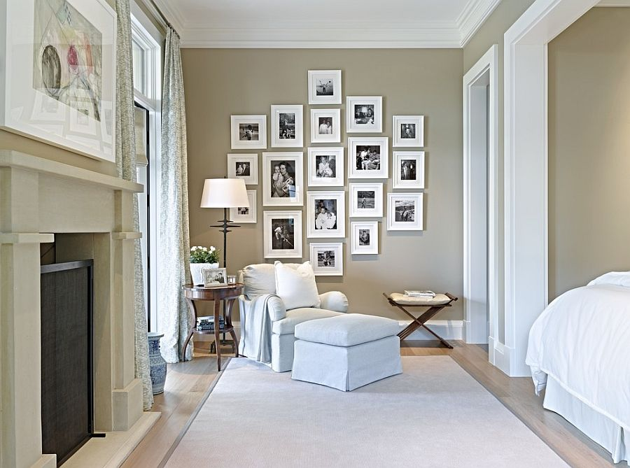 Trasnitional-bedroom-with-gray-and-beige-walls-along-with-a-beautiful-gallery-wall-filled-with-personal-photographs-21424