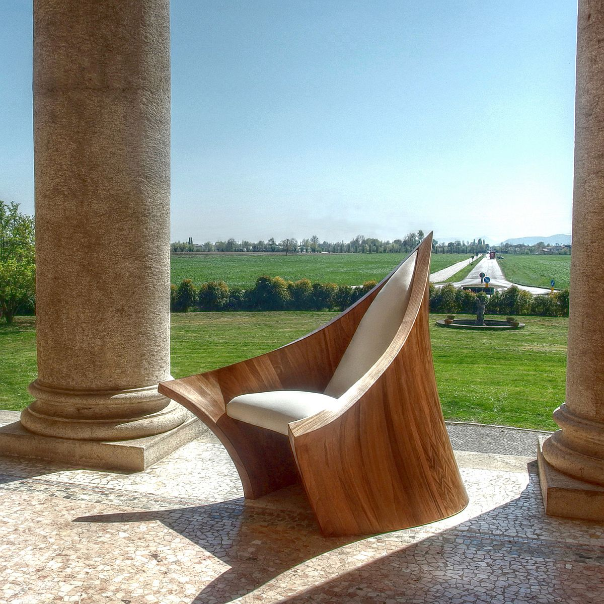 The New Medieval armchair designed by Massimo Farina
