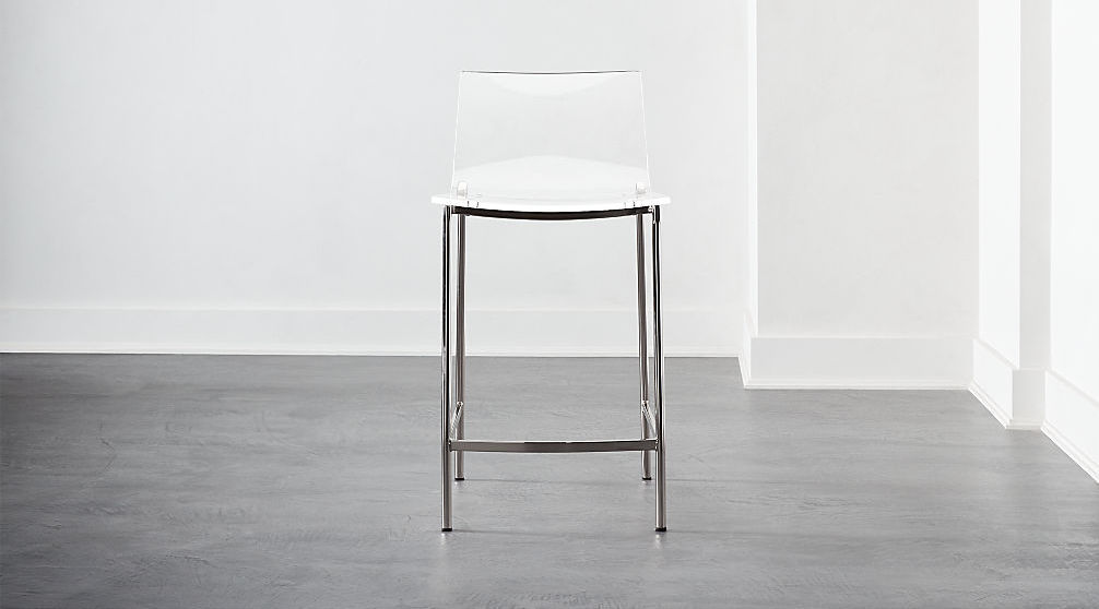Acrylic and metal stool from CB2