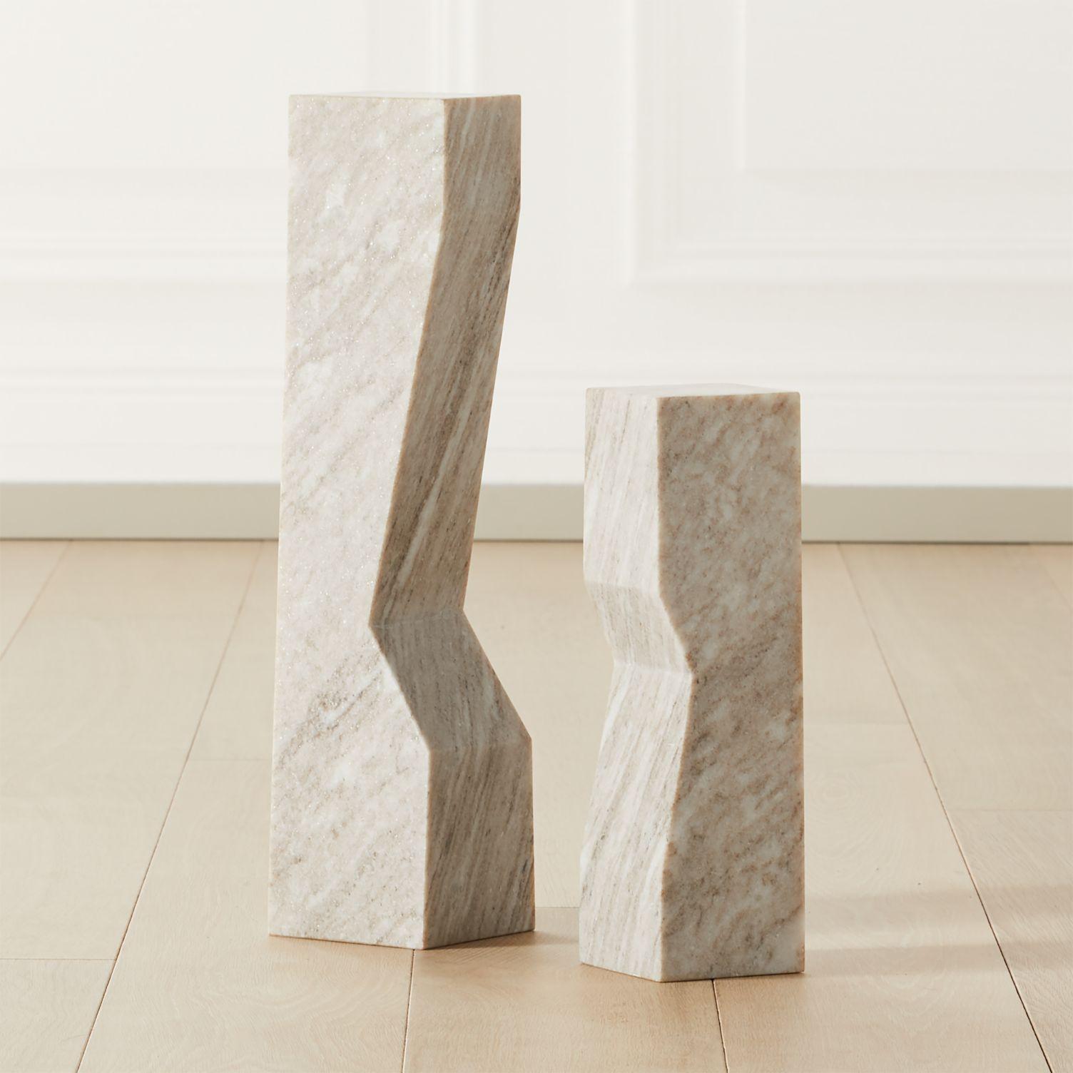 Angular marble sculpture