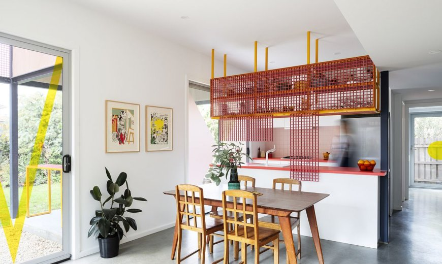 Playful Use of Color Reinvents this Old Case Study House in Melbourne