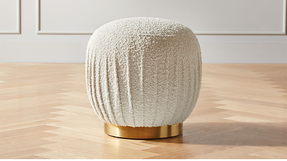 Boucle ottoman and stool from CB2