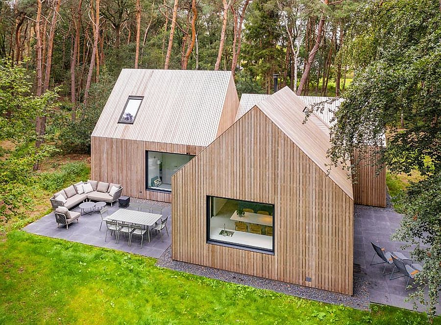 Classic form of the traditional cabin combined with modern aesthetics to create a wonderful escape