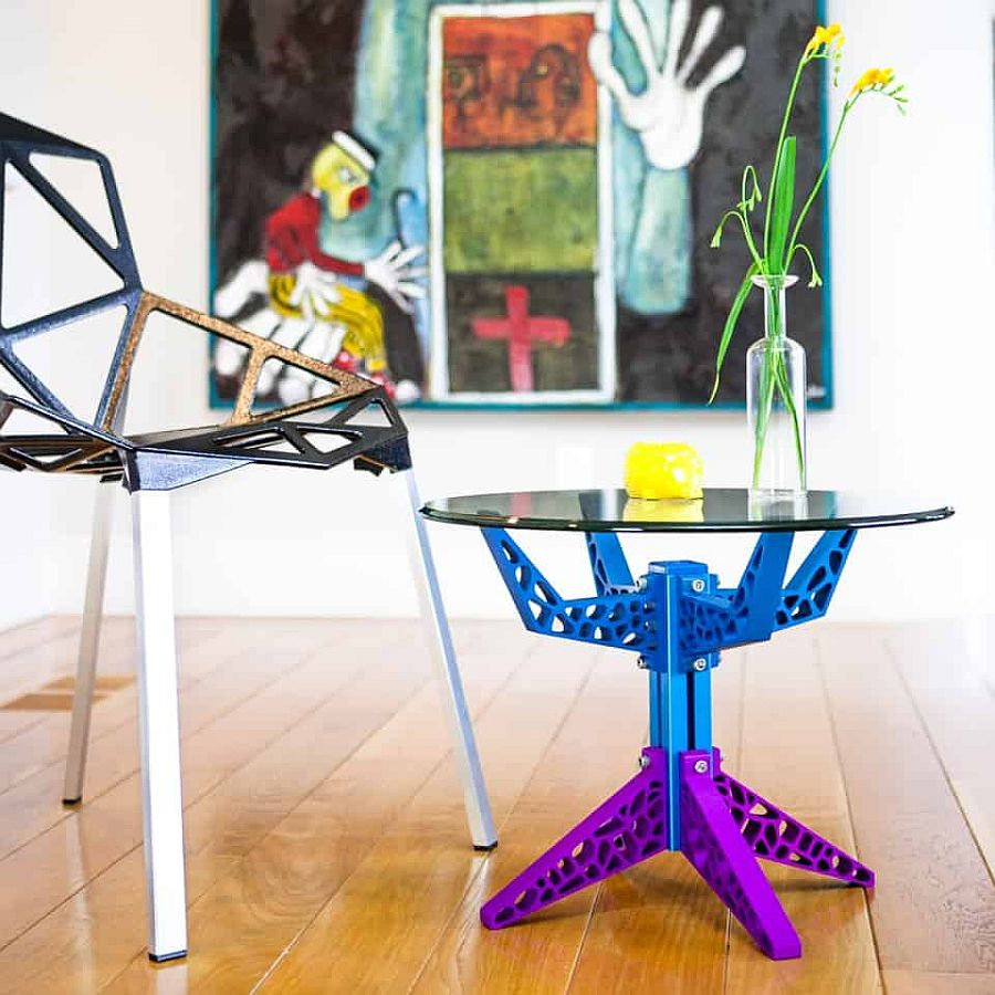 Colorful and imaginative Gira Coffee Table with an adjustable design