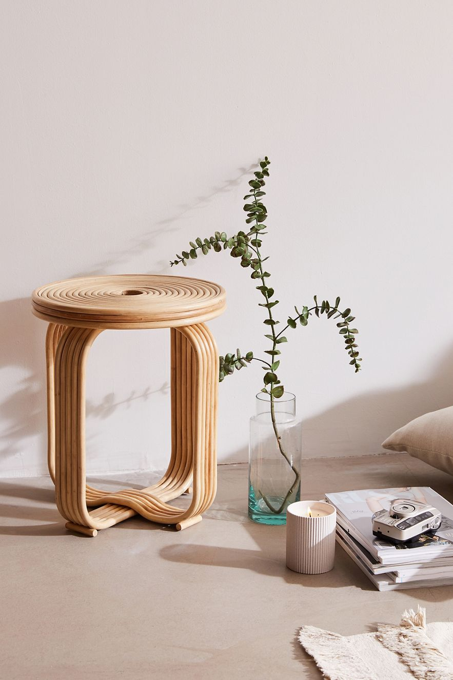 Curved rattan stool from Urban Outfitters
