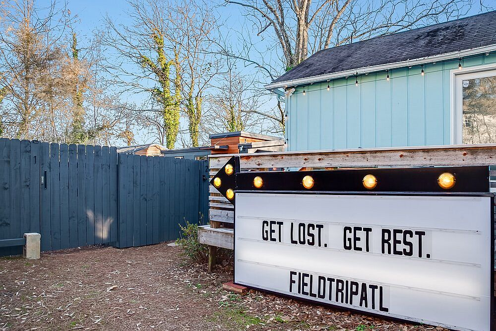 Explore the very beast of Atlanta from this tiny backyard house that you can rent