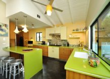 Fabulous-mid-century-modern-kitchen-with-yellow-accent-wall-and-eye-catching-green-countertops-24657-217x155