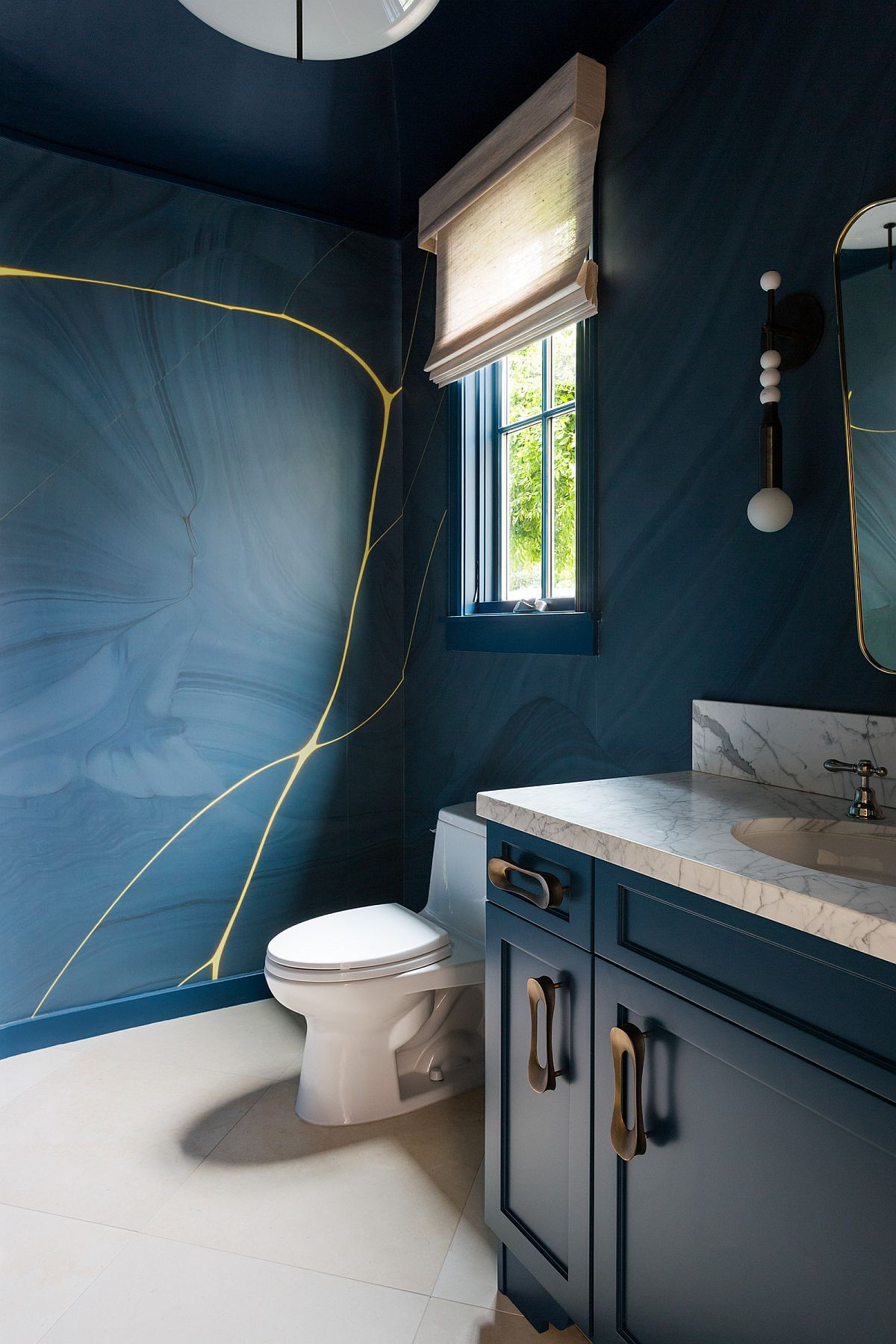 Going Bold 20 Contemporary Powder Rooms In 10 Spectacular Colors