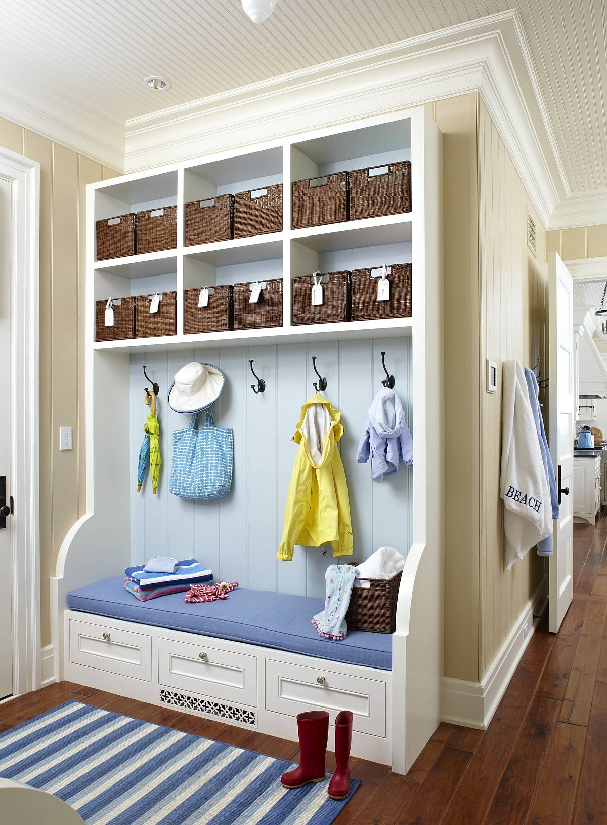 Find a mudroom setup that fits with the specific spatial needs of your home