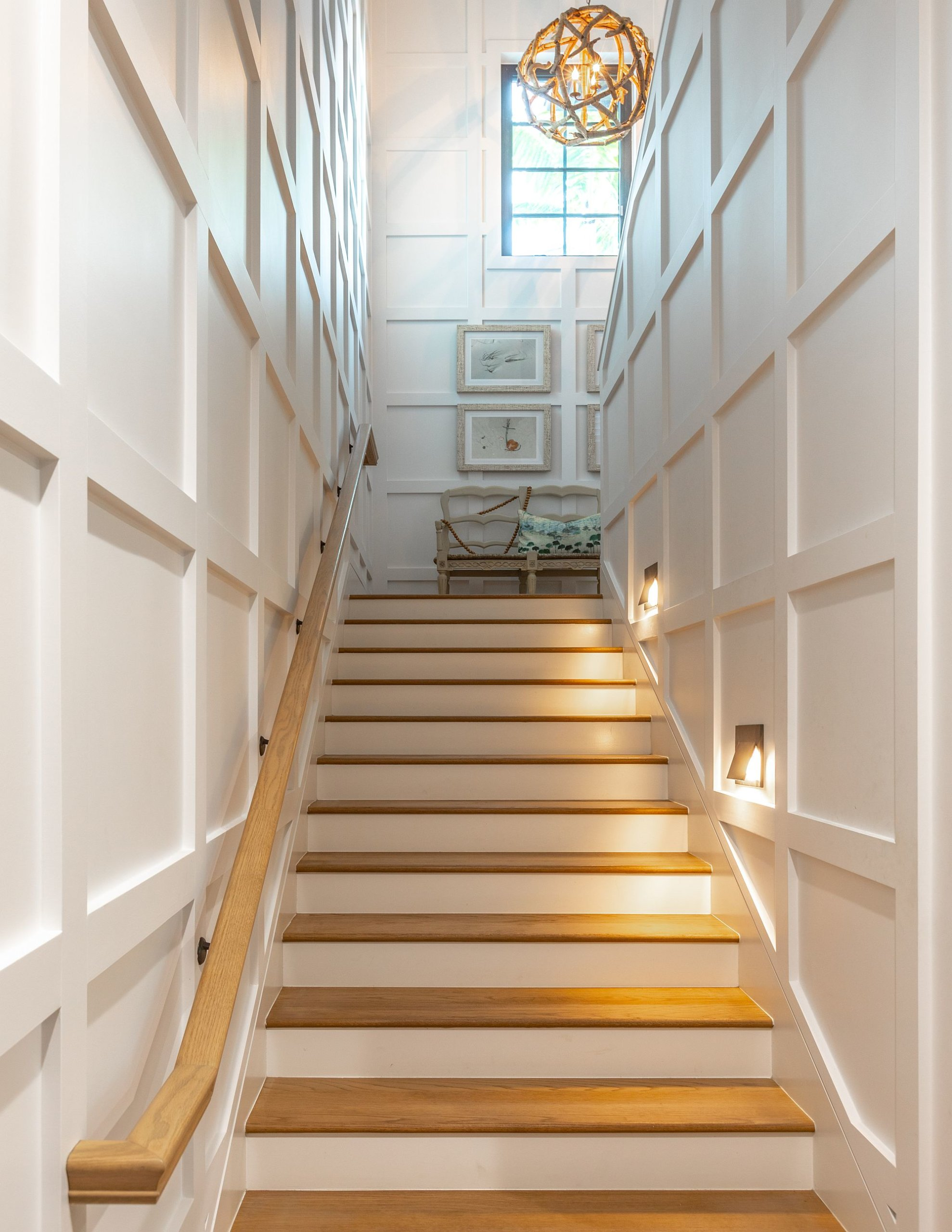 Find the right lighting to illuminate the grand staircase