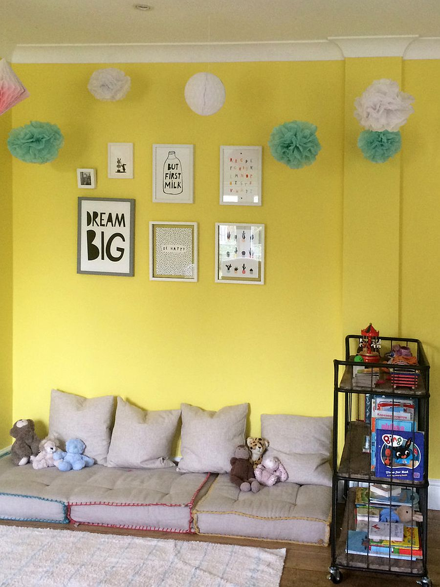 Finding a balance between casual and modern in the lovely yellow nursery