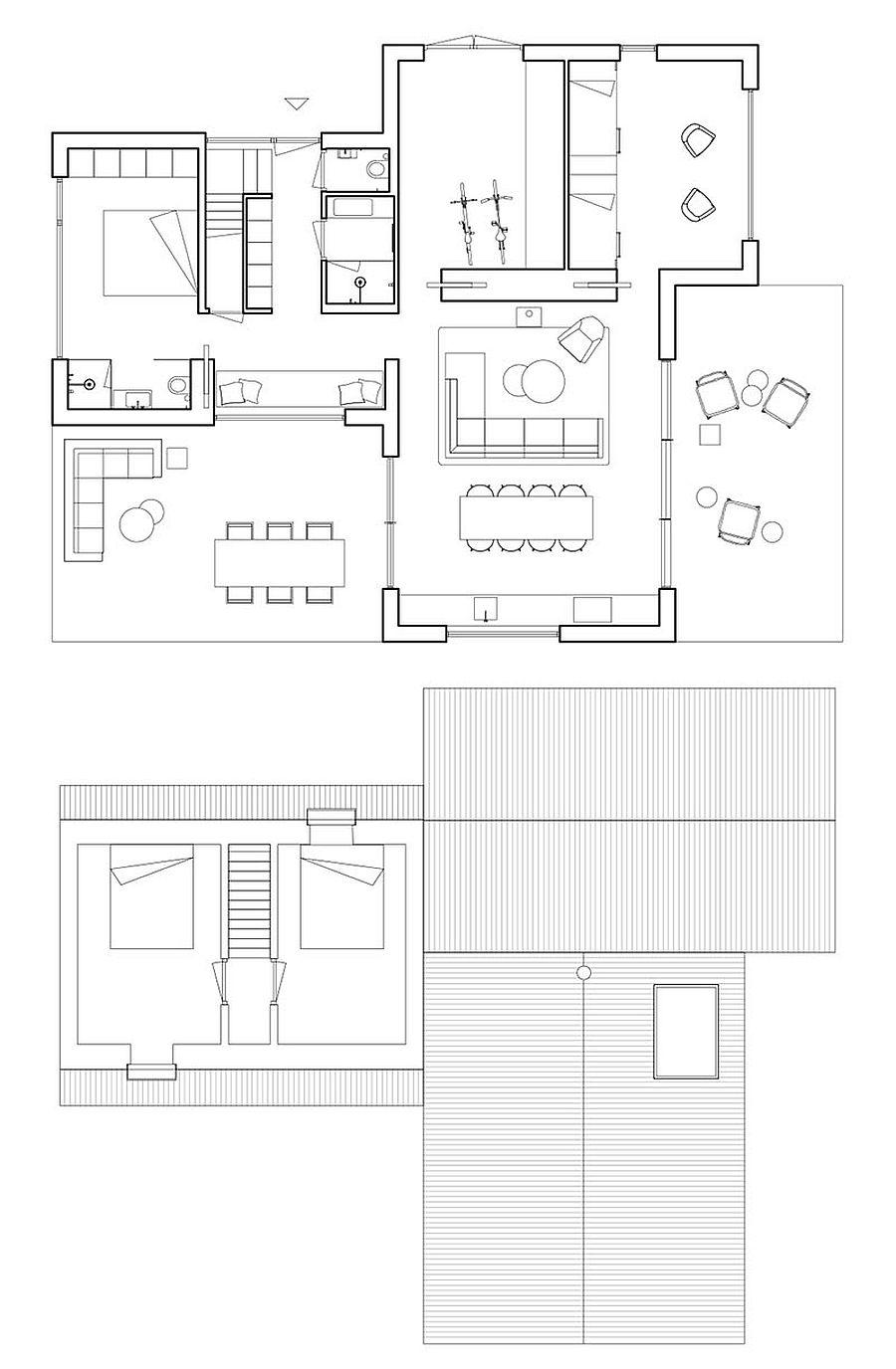 Floor plan of Villan Tonden by HofmanDujardin in Netherlands