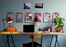 Gorgeous-eclectic-home-office-with-grayish-blue-walls-wall-mounted-photographs-and-clipboards-22927-217x155