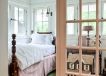 Gorgeous-farmhouse-bedroom-with-painted-floor-in-green-with-white-and-wood-all-around-62241-217x155