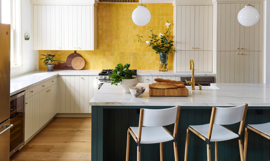Kitchen Color Trends: Green and Yellow Combine to Make a Statement