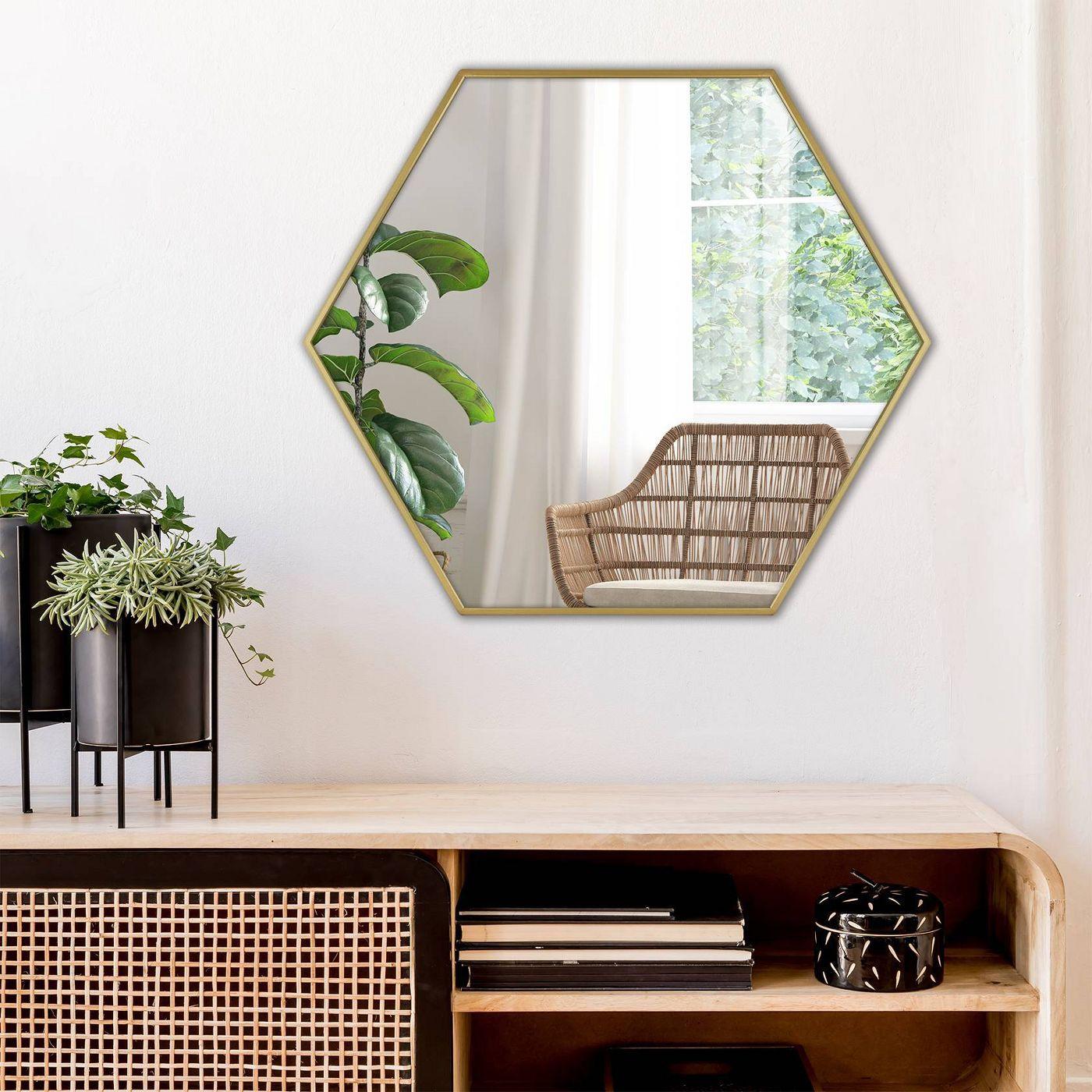 Hexagonal geometric mirror