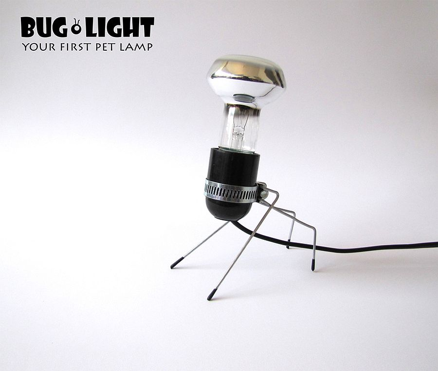 Imaginative and quirky table lamp inspired by the form of bugs!