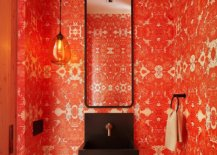 Ingenious-powder-room-with-brick-red-wallpaper-that-feels-absolutely-classy-32863-217x155