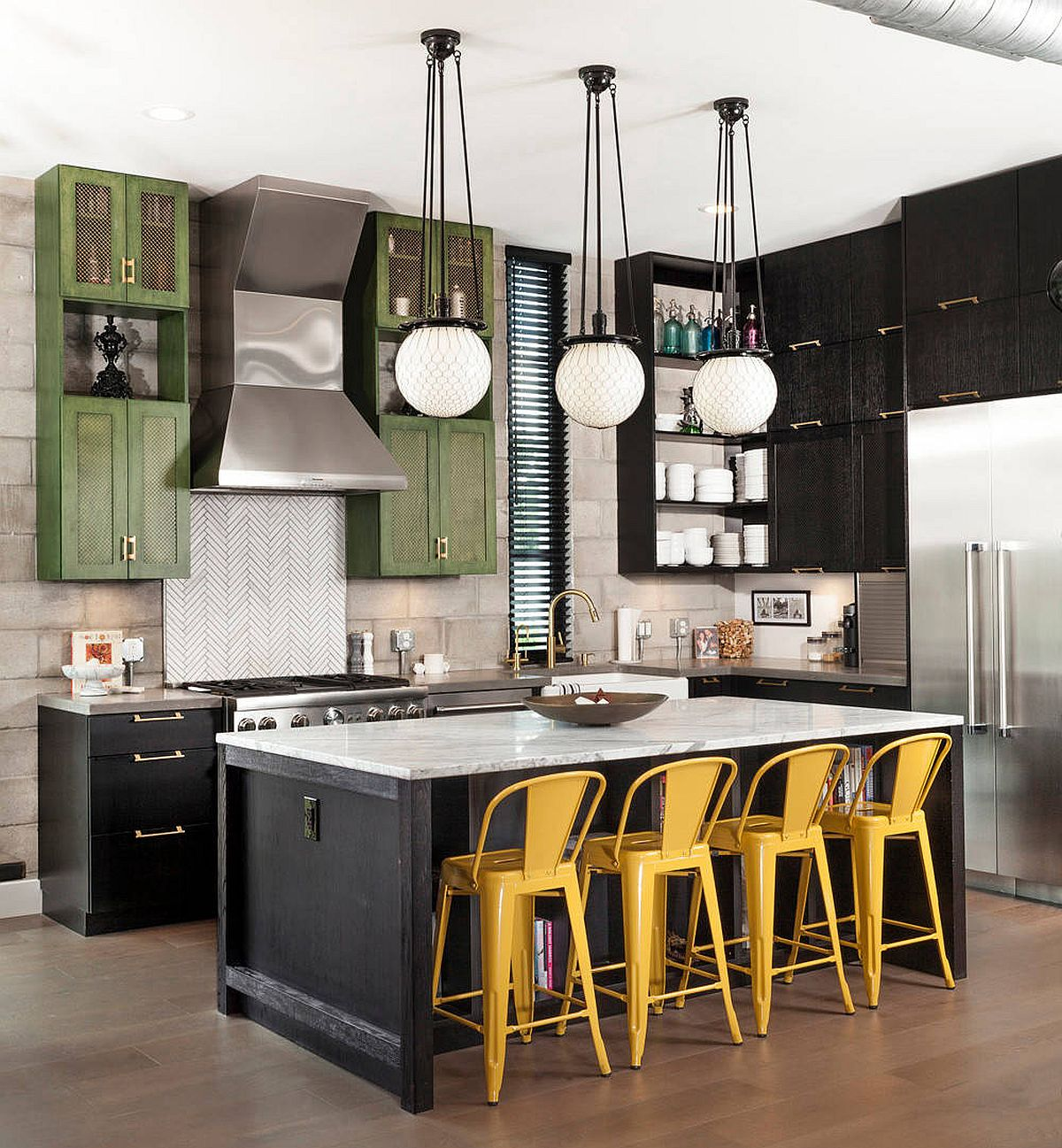 It-is-the-striking-bar-chairs-that-usher-yellow-into-this-industrial-farmhouse-style-kitchen-21369