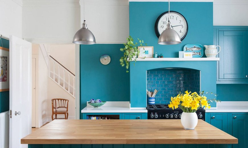 Turquoise Kitchens At Their Refreshing Best Welcome Home Breezy Summer Charm