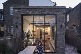 Space-Savvy Renovation of London Flat Blends Birch Plywood, Brick and Smart Design!