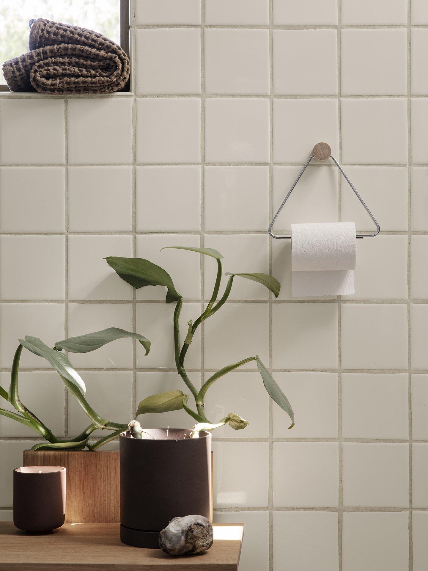 Modern geo toilet paper holder