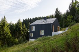 Dreamy Austrian Holiday Home: Dark on the Outside and Woodsy on the Inside