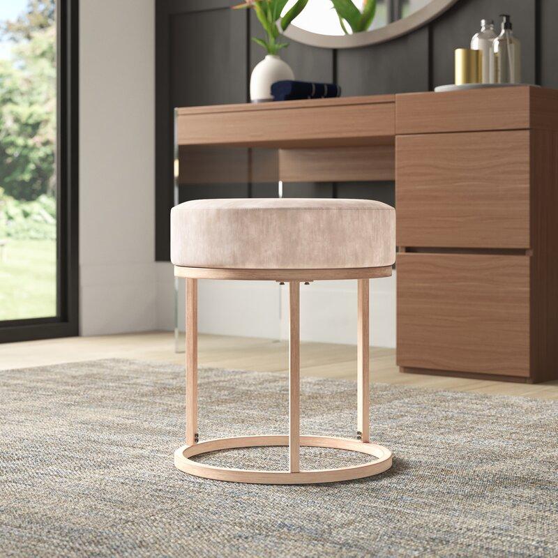 Modern streamlined vanity stool