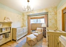 Nursery-in-mellow-yellow-with-whimsical-tree-patterned-wallpaper-in-the-backdrop-that-is-eye-catching-35938-217x155