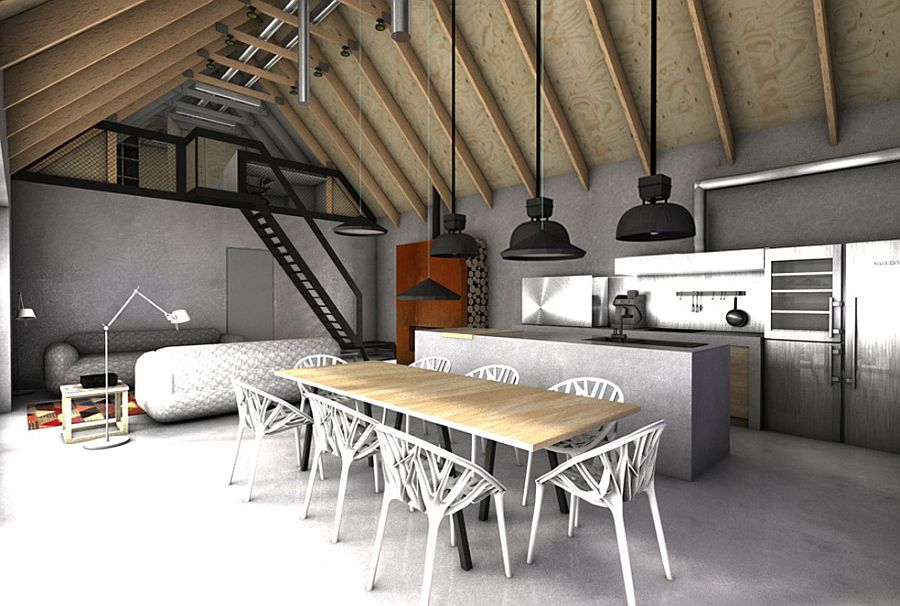 Open-plan-living-area-dining-space-and-kitchen-of-the-sports-themed-home-18128