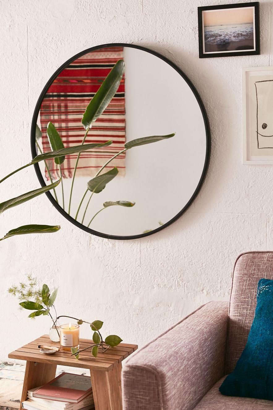 Oversized circular mirror