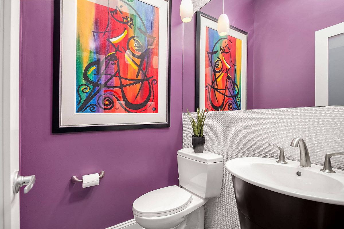Purple makes an impact wherever it is used!