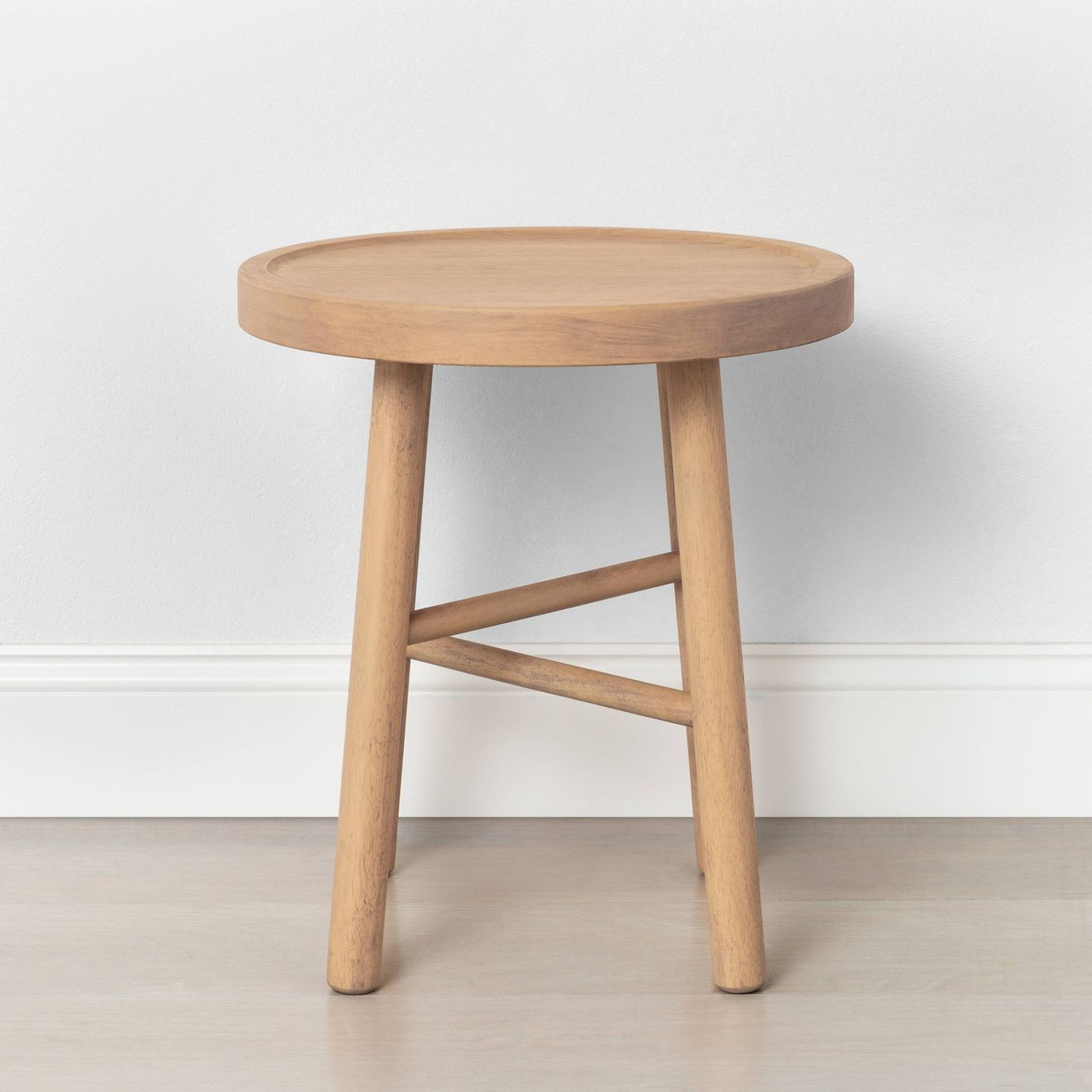 Rubberwood accent stool from Target
