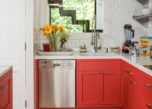 Small-beach-style-kitchen-with-bright-orangy-red-cabinets-and-white-backsplash-15505-217x155