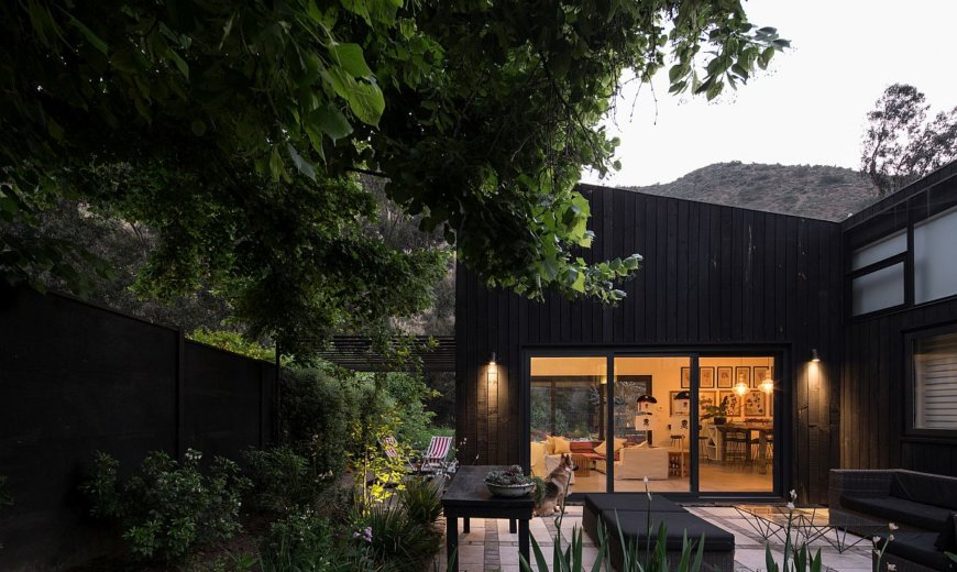 Dark and Spacious Contemporary Home at the Base of Andes Mountains