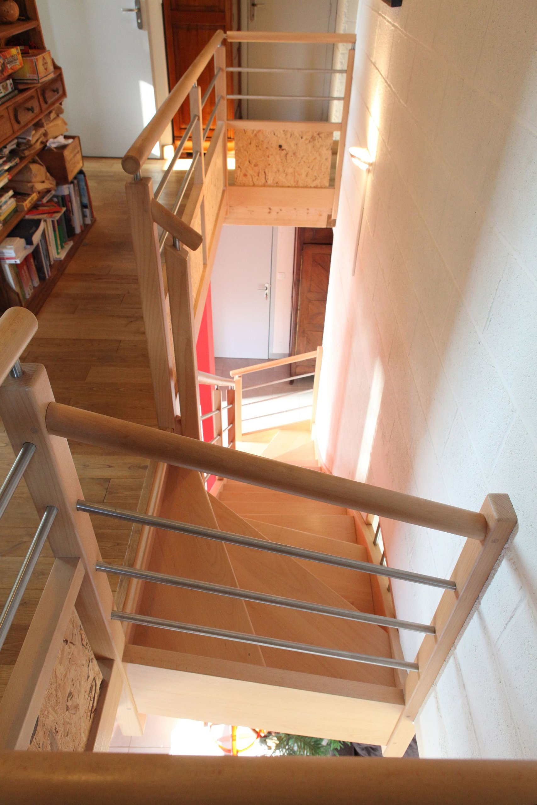 Staircase connecting different levels of the house