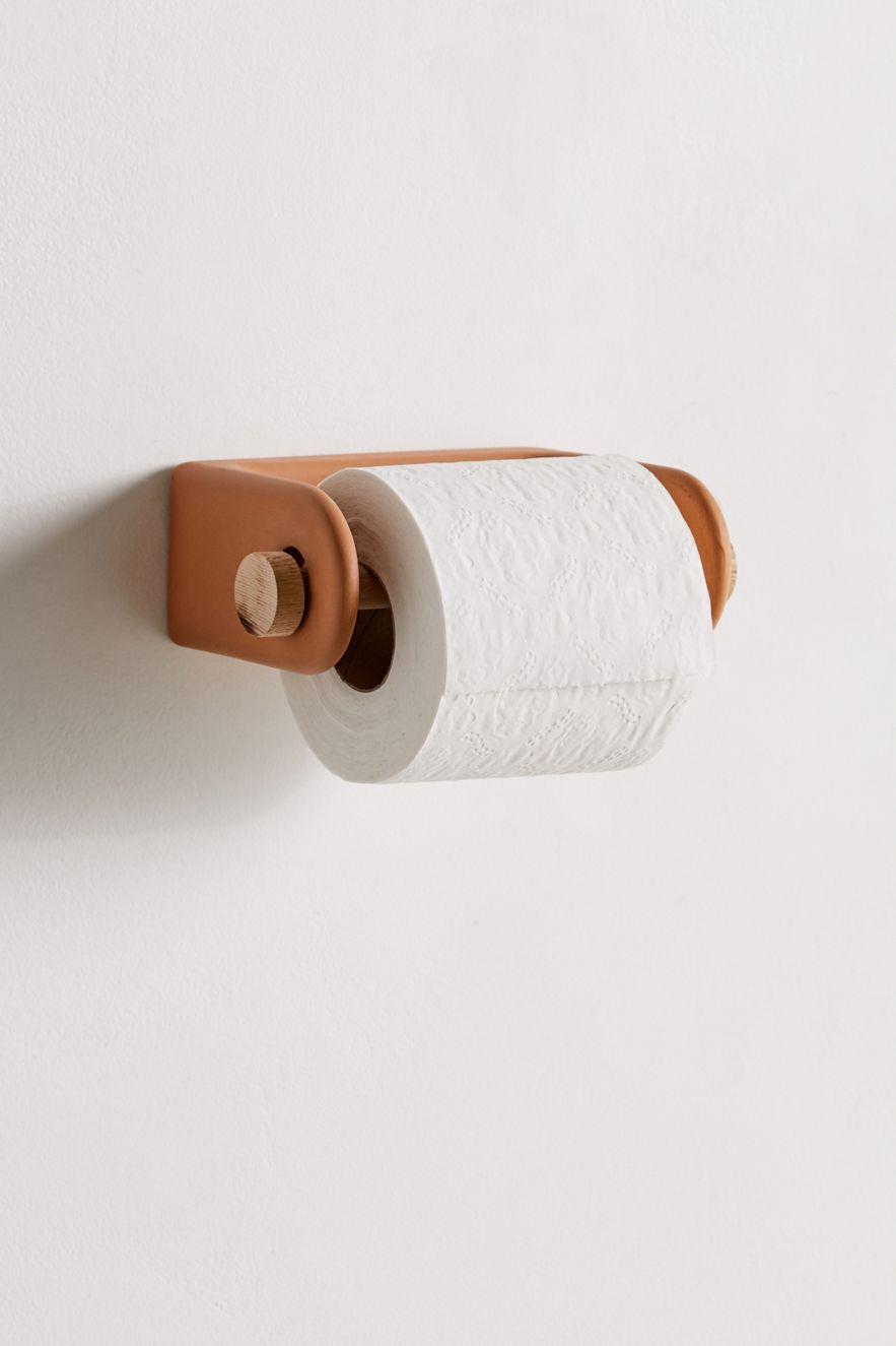 Terracotta toilet paper holder