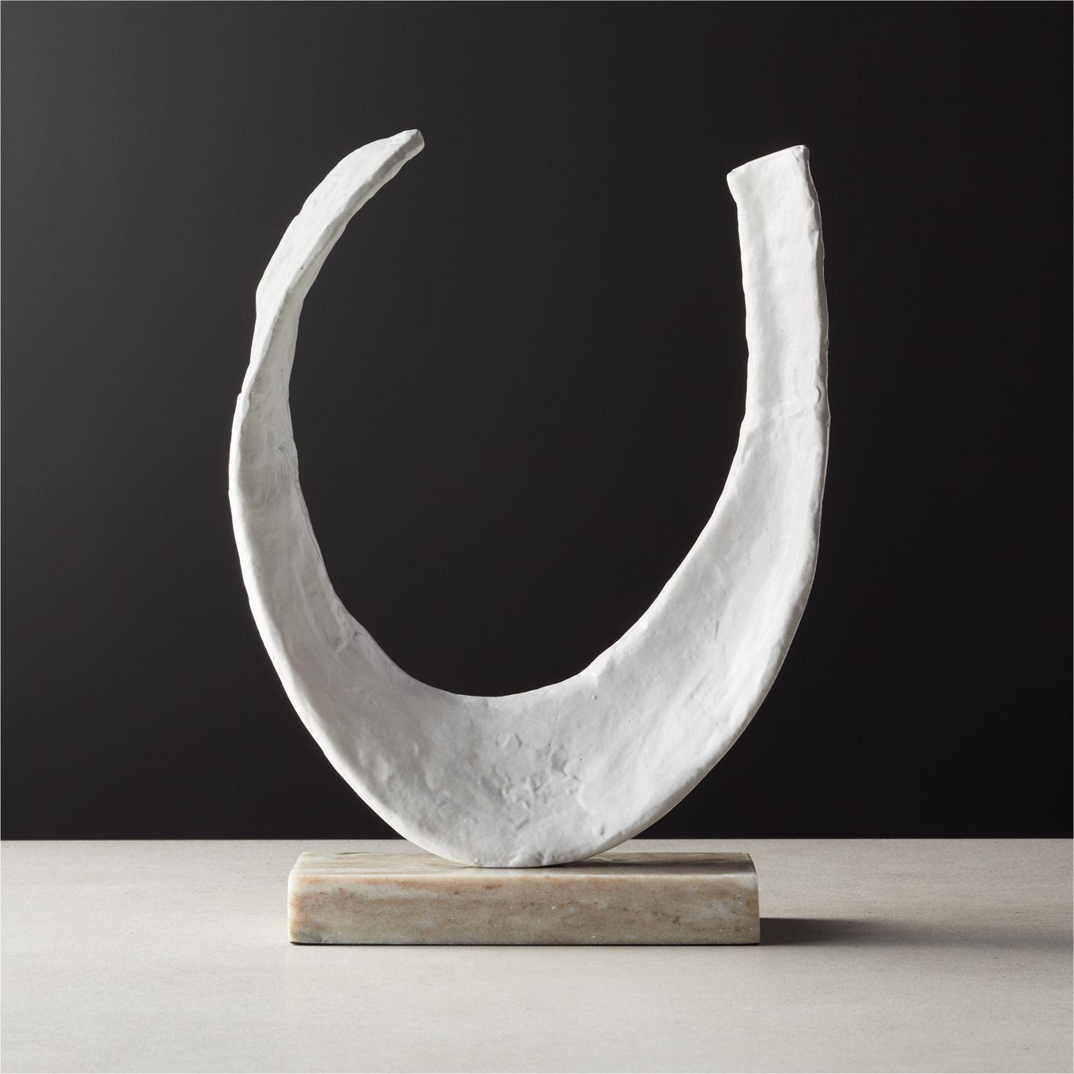 Textured aluminum sculpture from CB2