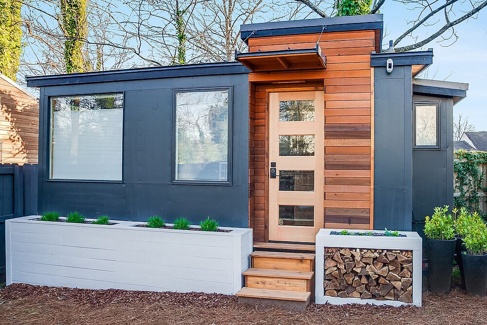 Tiny House in the backyard of a home in Atlanta that acts as the perfect escape