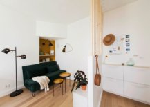 Tiny-open-living-area-of-the-Scandinavian-style-home-with-dark-green-sofa-that-seats-two-38342-217x155