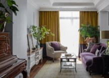 Traditional-living-room-with-limited-space-bold-purple-couch-and-drapes-in-yellow-87933-217x155