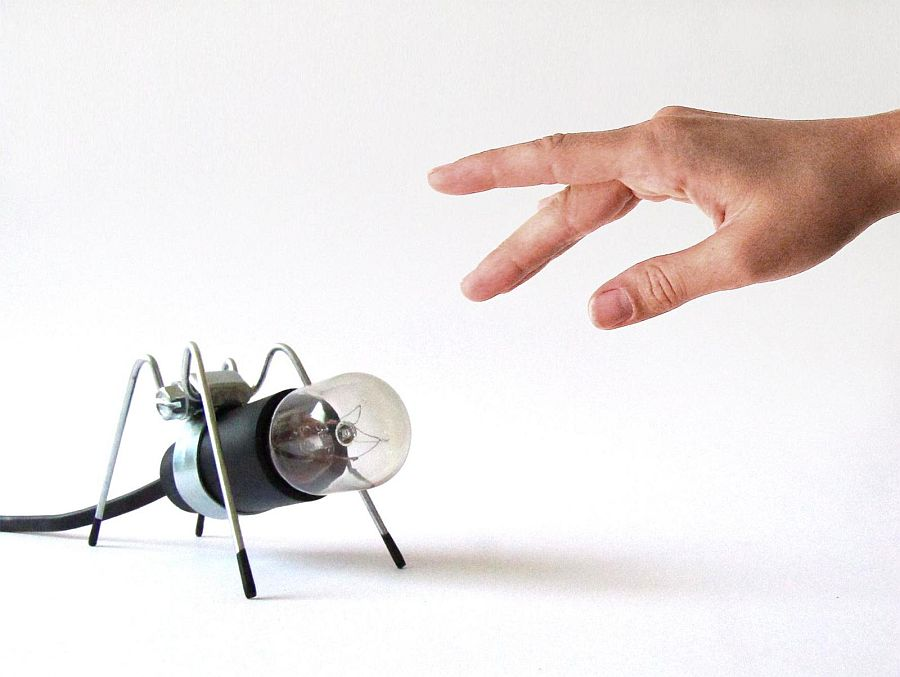 Try out a pet insect that also illuminates your work desk!