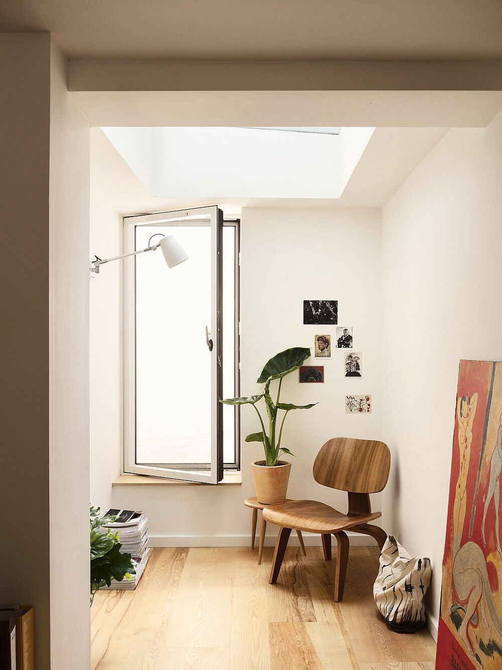 Using skylights throughout the house to create a spacious and light-filled interior inside classic Victorian home