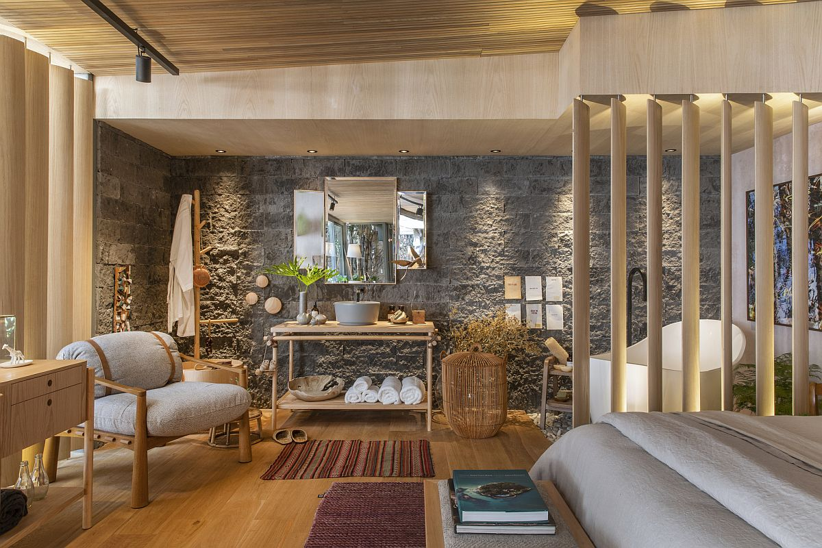 Wide range of textures and finishes create a stunning Brazilian home that is perfect for nature lovers