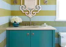 Yellow-and-blue-stripes-shape-the-backdrop-in-the-contemporary-powder-room-87175-217x155
