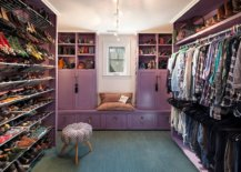 Beautiful-purple-cabinets-have-been-coupled-with-series-of-open-shelves-and-hangers-in-this-lovely-eclectic-walk-in-closet-83738-217x155