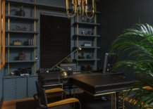 Black-and-dark-blue-walls-in-the-home-office-usher-in-an-air-of-urbane-elegance-30869-217x155